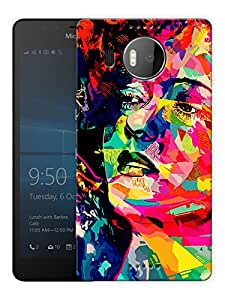 "Humor Gang Poster Art Girl Palette Printed Designer Mobile Back Cover For ""Nokia Lumia 950 XL"" (3D, Matte Finish, Premium Quality, Protective Snap On Slim Hard Phone Case, Multi Color)"