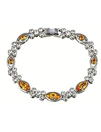 Swarovski Elements Yellow Designer Bracelet For Women By NEVI