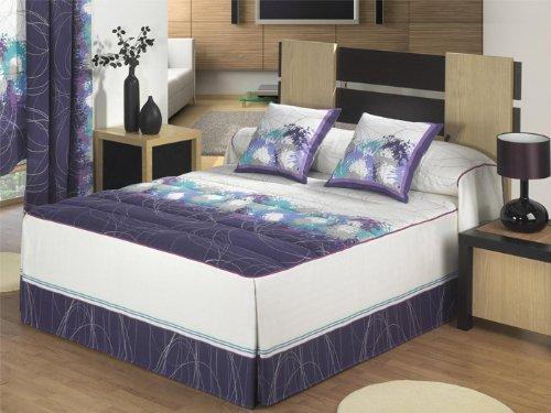 Colcha edredón Patch - cama 105 cm - Malva