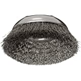 Weiler Wire Cup Brush, Threaded Hole, Steel, Crimped Wire