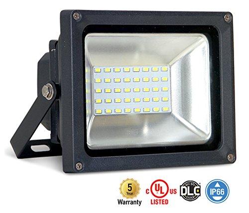 ASD LED Floodlight 20W SMD Outdoor Landscape Security Waterproof UL Listed DLC Certified 4000K (Bright (Outside Spot Lights)