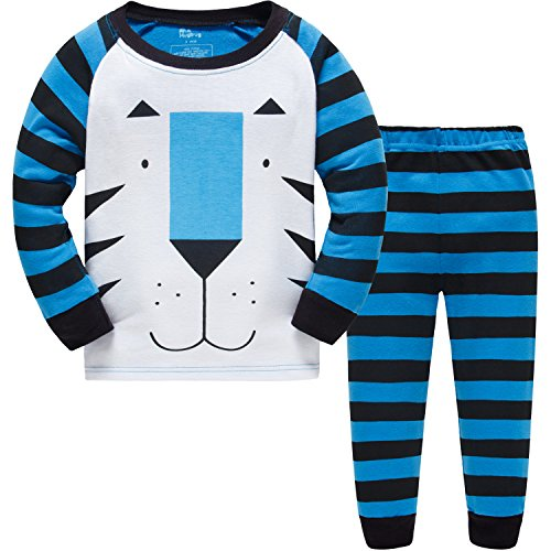 Hugbug Toddler Boys Tiger 2-Piece Pajama Set 2-7T