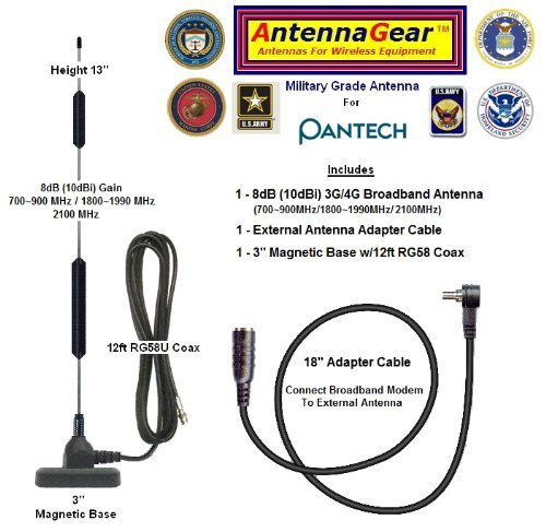 8Db Verizon Wireless Pantech Uml290 Lte Usb Modem External Antenna