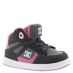 DC Rebound UL Youth Shoes Skate Shoe (Toddler), Battleship/Pink, 8 M US Toddler