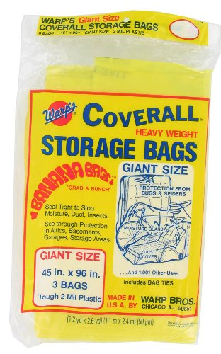Images for Warp Brothers CB-45 Banana Bags 3-Count Storage Bags, 45-Inch by 96-Inch