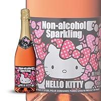6本セット ハローキティ ノンアルコール スパークリングワイン(ロゼ) 750ml×6本
