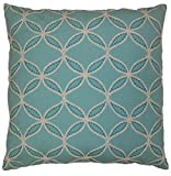 Van Ness Studio Tanjib Embroidered Decorative Throw Pillow, Aqua