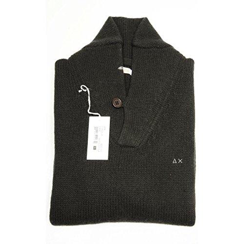 64880 maglione verde scuro SUN 68 WOOL ROUND maglia uomo sweater jumper men [S]