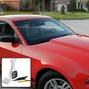 Deluxe Windshield Window Tint Sun Visor Strip Kit Toyota Tacoma Extended Cab 2005 2006 2007 2008 2009 2010 2011 2012 2013 2014 - 5% Visor