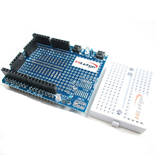 HiLetgo Prototyping Prototype Shield ProtoShield Mini Breadboard for Arduino UNO - 1
