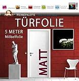 (EUR 4,93 / Quadratmeter) 5 Meter x 105 cm Türfolie MATT...