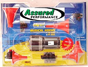 Dixie Duke of Hazzard Musical Air Horn Kit-5 Trumpets-120+DB-NEW Hazard Horns