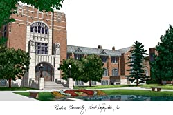 Purdue University Lithograph 14x10 Unframed Lithograph