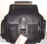 Jacara by David King Leather Backpack 323 Black thumbnail