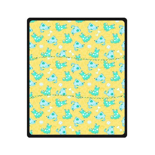 "Personalized Cute Dogs Jigsaw Blanket 50""X 60""(Medium) front-1018262"