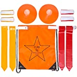 Flag Football Set: Belts, Flags, Cones, Carry Bag & Bonus Playbook (eBook)