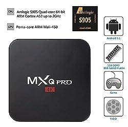 MXQ PRO Amlogic S905 Android 5.1 TV Box Quad Core Set Top Boxes XBMC Kodi Pre-installed WiFi 4K 1080P 64bit Internet TV Box