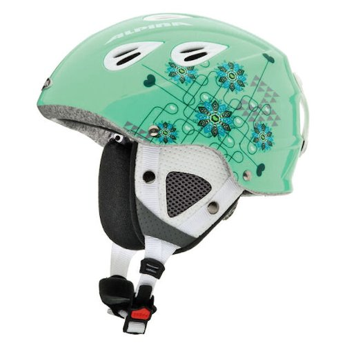 Original Alpina Grap Junior Kinderskihelm pastel green, Größe:51-54
