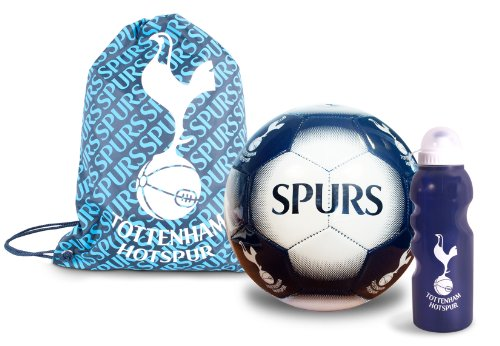 Tottenham Hotspurs Club Set, Water Bottle, Size 5 football, Gym Sack