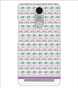 PrintDhaba I Love You Pattern D-1600 Back Case Cover for LENOVO K5 NOTE (Multi-Coloured)