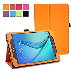 WAWO Samsung Galaxy Tab S2 8.0 Case - Classic PU Leather Creative Smart Cover Folio Case for Samsung Galaxy Tab S2 8-inch Tablet - Orange