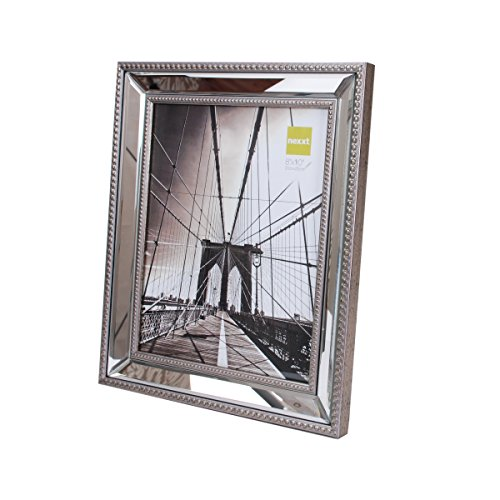 nexxt Sutton Mirrored Picture Frame, 8 by 10 Inch, Champagne (Mirror Frame compare prices)