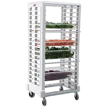 Food storage cart 17 racks off white by Chabrias Ltd