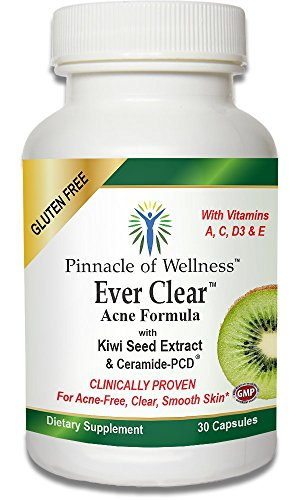 Ever Clear Acne Formula With Kiwi Seed Extract & Ceramide-Pcd Is Clinically Proven To Clear Acne And Improve Skin - The Smart Choice For Smoother Healthier And Clearer Skin - Highest Quality Source Of Ceramides And Antioxidants With All The Right Ingredie