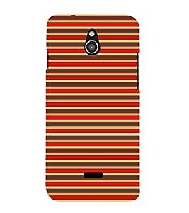 Colorful Lines 3D Hard Polycarbonate Designer Back Case Cover for InFocus M2