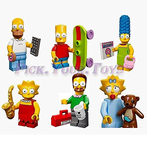 Lot Of 6 PCS The Simpsons Series Homer Marge Lisa Cute Mini Figures Toys Gifts