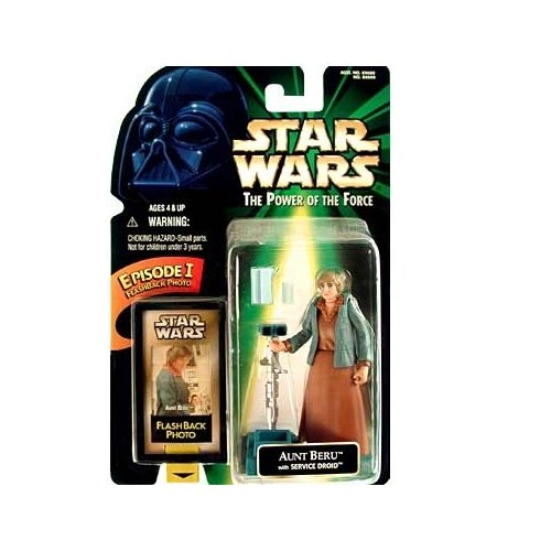 Star Wars POTF2 Power of the Force Flashback Aunt Beru with Service Droid