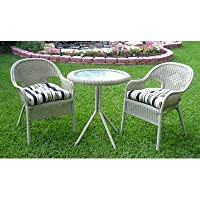 Somerset Outdoor Wicker Café Bistro Patio Set by International Caravan