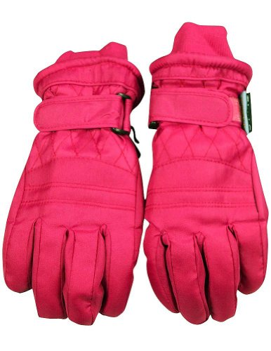 Winter Warm-Up - Big Girls' Ski Gloves, Fuchsia 33083-Medium front-1038946