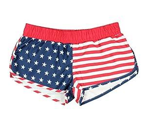 American Flag Women's Printed Shorts (X-Large)