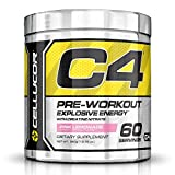 Cellucor C4 Pre Workout Supplements with Creatine, Nitric Oxide, Beta Alanine and Energy, 60 Servings, Pink Lemonade, 13.75 Oz / 390g