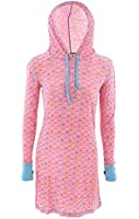 Munki Munki Women's Pink Hooded Candy Hearts Nightshirt