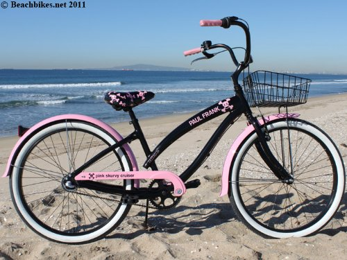 Nirve Skurvy Ladies 3-Speed Bicycle, Black/Pink, 16