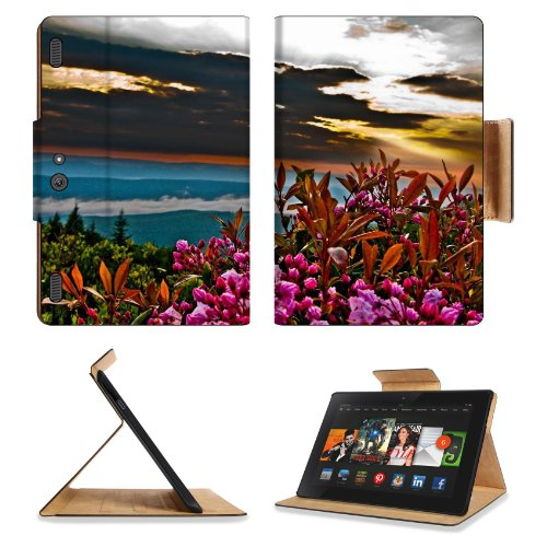 Summer Sunrise Mountain Flowers Amazon Kindle Fire Hdx 8.9 [2013 Version] Premium Deluxe Pu Leather Flip Case Stand Magnetic Cover Open Ports Customized Made To Order Support Ready 9 13/16 Inch (250Mm) X 6 7/8 Inch (175Mm) X 11/16 Inch (17Mm) Liil Profess front-952227