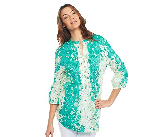 liz-claiborne-new-york-watercolor-floral-pleated-tunic