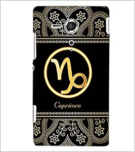 PrintDhaba Zodiac Capricorn D-2631 Back Case Cover for SONY XPERIA SP (Multi-Coloured)