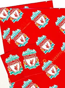Official Liverpool Fc Gift Wrap Wrapping Paper Tags by Liverpool FC (Official Merchandise)