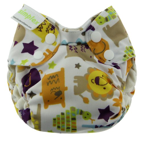 Blueberry Simplex All in One Diapers, Jungle Jam, Newborn (Discontinued by Manufacturer)