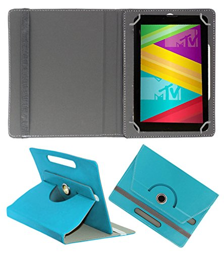 Acm Rotating 360° Leather Flip Case For Swipe Mtv Slash 4x Tablet Cover Stand Greenish Blue  available at amazon for Rs.149