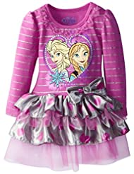 Disney Little Girls' Frozen Striped Knit Dress