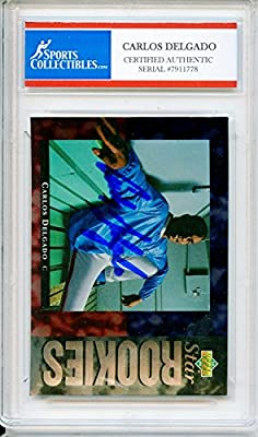 Carlos Delgado Autographed Toronto Blue Jays Encapsulated Trading Card - Certified Authentic