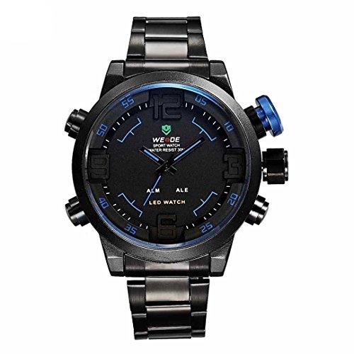 Gute Weide Men Military Watch 3Atm Led Digital Analog Dual Time New Sports Quartz Wristwatches