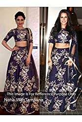 Designer ROYAL BLUE NET Bollywood Replica Lehenga Choli.