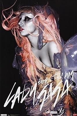 Lady Gaga - Orange Hair Poster Print (22 x 34)