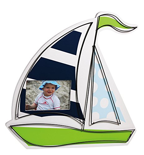 Wood Sailboat 4X6 Picture Frame With Wire Details