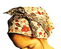 Chemo Hat, Chemo Cap, Tichel, Snood, Chemo Head Scarf, Hair Snood: Black, Red, Floral